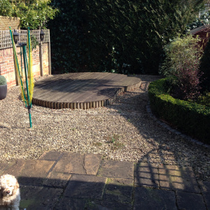 garden before artificial grass was installed