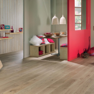 Room with panaget wood floors and walls