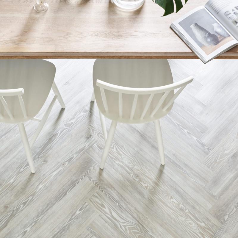 Amtico Spacia White Ash Herringbone, White Ash Laminate Flooring