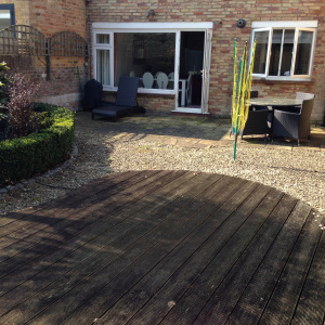 before artificial grass picture