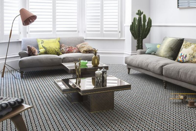 Quirky B Shuttle Silas by Margo Selby patterned carpet