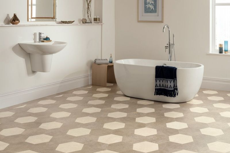 karndean kaleidescope hexa bathroom