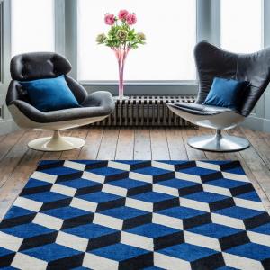 Asiatic arlo blue block rug