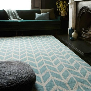 Asiatic arlo chevron blue rug