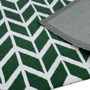 Asiatic arlo chevron green rug