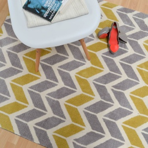 Asiatic arlo chevron lemon grey rug