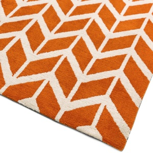 Asiatic arlo chevron orange rug