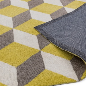 Asiatic arlo yellow block rug